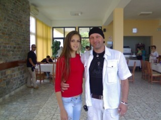 with Miss Albania ...